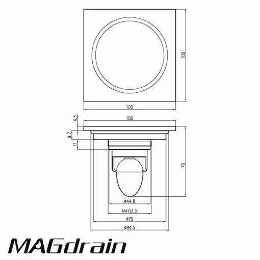 Thoát sàn chắn rác MAGdrain CC50Q6-N