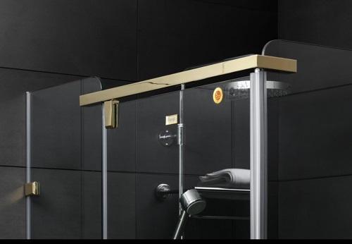Vách kính tắm Fendi FDG-1X3, khung inox mạ vàng